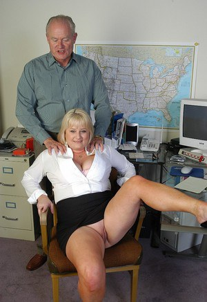 Mature teacher Lizzy sucking and banging dick in her office