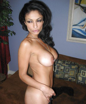 Brunette Persia Pele amazing nudity of her shaved pussy and ass