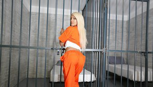 Latina prison inmate Elizabeth Jolie caught masturbating in jail cell