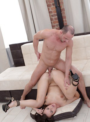 Hot European babe with hot ass Carolina June bends over to her anal rammed