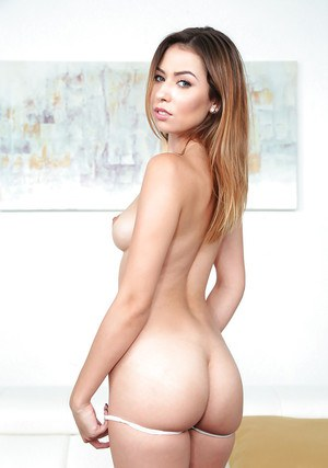 Sweet Latina female Melissa Moore revealing nice tits and phat ass