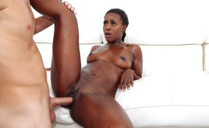ebony simone styles works white cock in both her holes