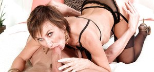 Amazing mom Tia Cyrus blows young cock in perfect POV scenes