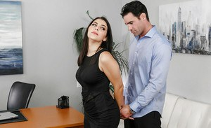 Top office hardcore along big boobs brunete Valentina Nappi