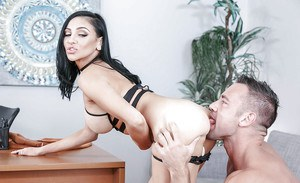 Audrey Bitoni enjoys cock at the office and plenty of sperm down the face