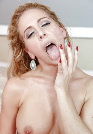 Busty MILF Cherie DeVille works magic on young males huge penis