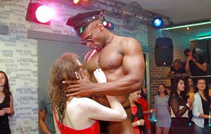 Bachelorette party gets crazy when the girls start blowing male strippers