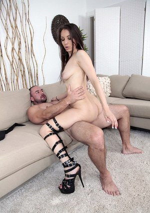 Mouth watering Latina bitch with tiny tits performs a good cock ride