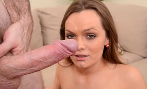 Luscious amateur Monica Rise likes to have hardcore sex and to be facialized