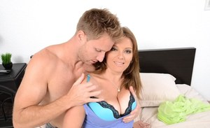 Big boobed MILF Kayla West getting the most out of intense fuck in bedroom