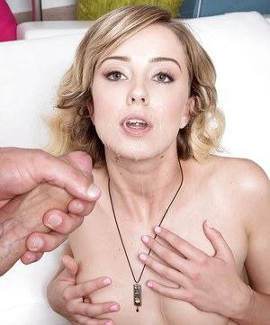 Young blonde Haley Reed taking hard fucking from guy with a large penis