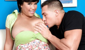 Brunette Latina babe Reina Lee jumps on a dick and swallows a portion of cum