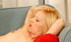 Hairy MILF with a skinny body and tiny tits bounces on a dick gets cum on muff