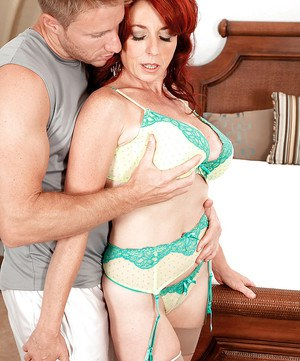 Redhead super MILF Karen Kougar amazing hard sex in anal mode