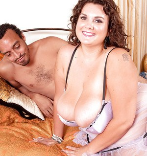 BBW Charlie Cooper smothering and pleasing a man with her huge saggy boobs