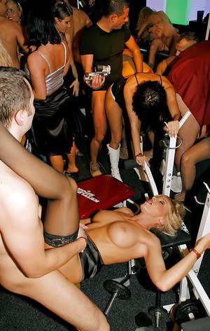 Wild and crazy chicks let guys fuck them senseless at a swinger's party