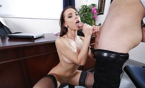 Top Aidra Fox amazing office hardcore after severe blowjob