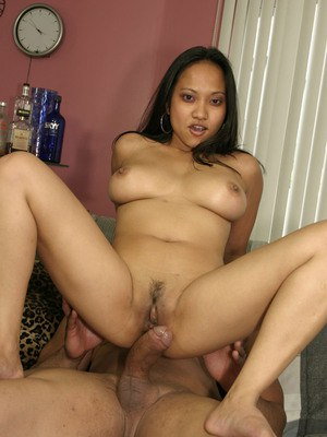 Asian MILF with superb boobs Loni works magic on male's huge cock