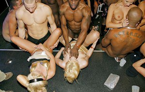 Late night drinking to the wee hours at nightclub leads to a full blown orgy