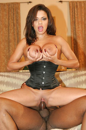 MILF with big tits Alexis Silver goes hardcore interracial riding a black cock