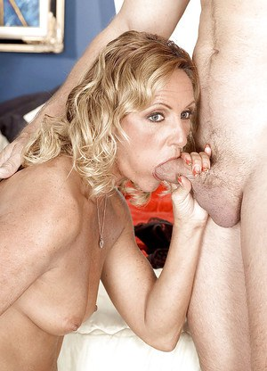 Cheating wife Ginger shows off throating cock and fucking like a whore