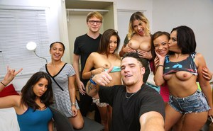 Latina coed Selena Rose getting fucked after losing bet in dorm room