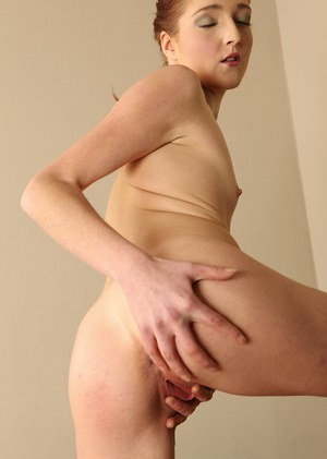 Lo Swing touches her pink pussy in slow motion during amateur solo scenes
