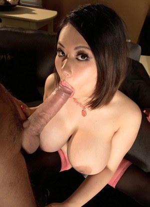 Asian MILF Tigerr Benson lets her hooters do the talking during hard fucking