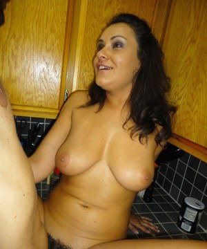 Latina babe Charley Chase makes self shots of getting banged in the kitchen
