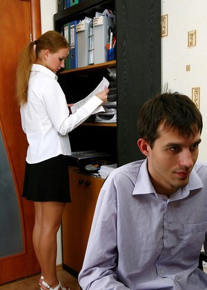 Amateur office chick enjoys a cock in her hairy pussy and get jizz on muff