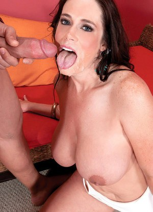Brunette fatty Barbie Kelley grinds on a wang and takes it in insatiable mouth