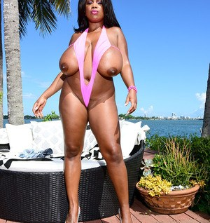 Ebony with huge tits amazing outdoor solo nudity play with mastrubation