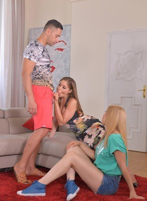 European teen threesome blak woman