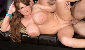 BBW MILF with big bouncing boobs Brandy Dean gets screwed and gets cum on muff