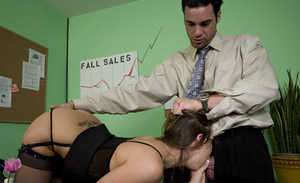 MILF Rachel Roxxx tries young inches of cock at the office during hardcore