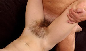 Amateur hottie Angelika gets her hairy beaver screwed and gets cum on muff