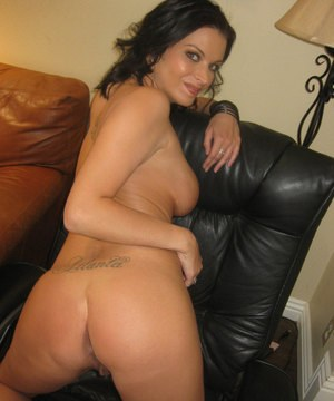 Brunette ex-girlfriend Bailey Brooks shows off her big tits and ass for her ex