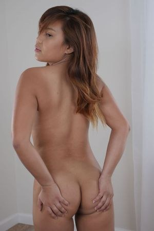 Asian babe Scarlett Scott provides nudity and views of her ass and pussy