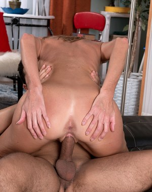 Hot mom over 40 Brynn Hunter seduces a young Latino boy for a hard fuck
