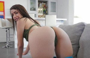 Girlfriend Lucie Cline fnigering the wet pussy before a naughty shag