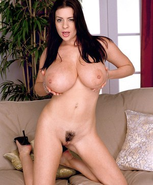 Appealing babe with fine juggs works toy cock in her beautiful pussy