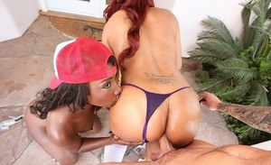 Cocoa and Destinty Dymes big booty ebony teens sharing white cock