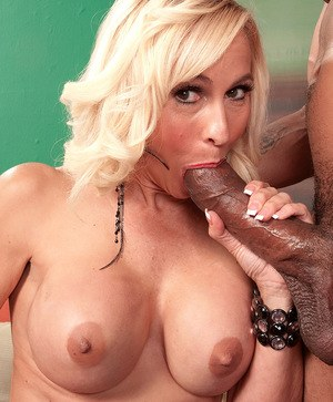 Hot older woman Carrie Romano has her first interracial sex experience