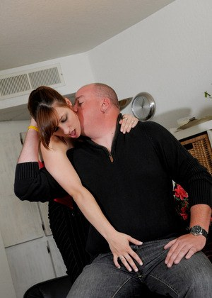 Chubby amateur Janie pulls her guy's cock out and empties it of backed up jizz