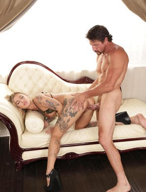 Fascinating pornstar Kleio Valentien finds herself sitting on a big cock