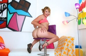 Zelda Morrison fantastic closeup views of her shaved pussy and butt hole
