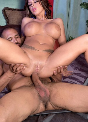 Voluptuous honey with long hair and huge boobs Brook Ultra impaled on a cock