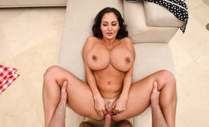 Bosomy wife Ava Addams gets titfucked and banged in POV gets cum on huge tits