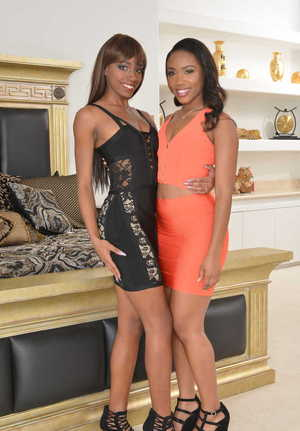 Ebony girlfriends Chanell Heart and Lacey London love each other without limit