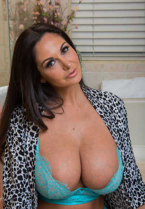 Savoury MILF Ava Addams soaps her outstanding big tits and her awesome ass